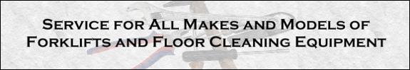 Forklift & Floor Cleaning Equipment Service