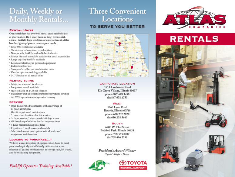New & Used Forklift Rentals in Chicago | Atlas Toyota