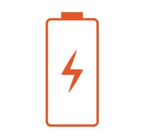 Battery icon with a lightening bolt